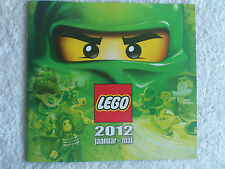 LEGO NEW CATALOG RELEASE 2012 CATALOGUE BOOK LEGO JANUARY - MAY EU EST EDITION