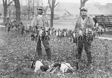 Antique Repro 8 X 10 Hunting Photograph Indiana Grouse Hunters English Pointers