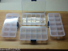 10 COMPARTMENT TACKLE BOX FOR SEA COARSE GAME FLY FISHING HOOKS SWIVELS + GIFT