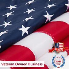 3x5 Ft American Flag  Embroidered Stars Sewn Stripes Grommets Nylon US U.S.