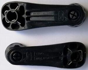 FOR Toyota Tercel 95-99 Inside Door Window Crank Handle Black Left And Right(2)