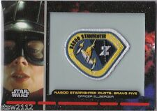 STAR WARS GALACTIC FILES PR-9 EMBROIDERED PATCH NABOO STARFIGHTER BRAVO FIVE
