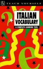Italian Vocabulary Complete Learning Tool  Teach Yourself (1996, PB)