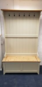 5FT Pine Hall Coat Stand Storage Solid Any Colour We Make To Measure