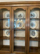 Lot of 8 Owl Plates Edward Marshall Boehm Vintage w/original boxes & paperwork
