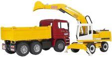 Bruder 2751 Autocarro con cassone ribaltabile Man con escavatore Incluso