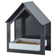 Wandfutterhaus anthrazit/weiß für Wildvögel-Gartenvögel Vogelfutterhaus FB406