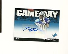 2011 Topps Game Day Autographs #GDATY Titus Young Auto Detroit Lions Boise State