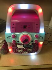 hello kitty Karaoke Party Machine Cd Player With Flashing Lights Works 2015