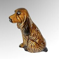 "Vintage Ceramic Sitting Dog Spaniel Figurine Brazil 6.5"" Tall"