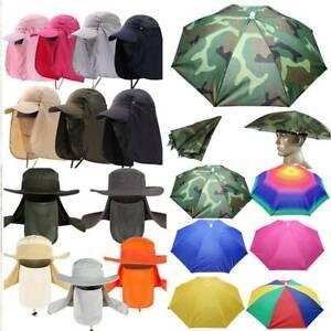 Herren Sonnenschutz Kopfschirm Fischer Damen Mütze Anglerhut Regenschirm Kappe