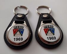 1969 FORD CREST KEYCHAIN 2 PACK CLASSIC CAR LOGO FALCON FAIRLAINE TRUCK ECT