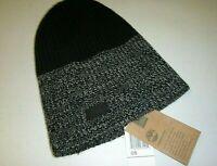 Timberland mens Macys designer gray acrylic cable knit beanie logo hat -OS gray