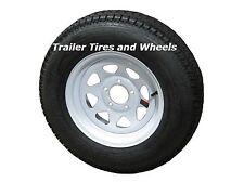 "ST175/80D13 LRC Eco-Trail Bias Trailer Tire on 13"" 5 Lug White Spoke Wheel"