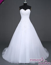 ♥ hombro libre vestido de novia vestido de bodas blanco talla 34-54 para selección +neu+w046 ♥