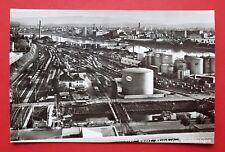 Eisenbahn Foto AK BASEL Schweiz Rheinhafen Gleisanlagen und Esso Tank    ( 24546