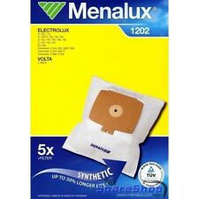 MENALUX 1202 VAC BAGS X5 (SYNTHETIC) AND 1 FILTER FOR ELECTROLUX AND VOLTA