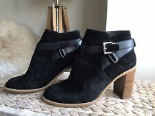 Kurt Geiger black genuine suede ankle boots eur 41 uk 8