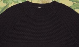 Mens LULULEMON Plum Crewneck Pullover Sweater Large L