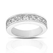 2.00 ct Ladies Princess Cut Diamond Wedding Band Ring G Color SI-1 Clarity