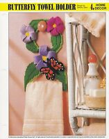 Butterfly Plaques  ~  plastic canvas pattern  ~ Annie/'s