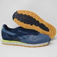 Reebok BD1927 Classic Leather Mens Shoes Blue & Gray