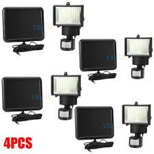 4Pack 100 SMD LEDs Solar Powered Motion Sensor Security Light Flood Home Yard US