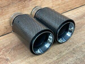 ✅UPGRADE Carbon Fiber Exhaust Pipe Muffler Tips for BMW E90 E92 E93 F30 F32 335i