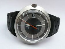 FAB RETRO MENS ORIGINAL OMEGA DYNAMIC GENTS DATE WATCH & ORIGINAL STRAP IN FWO