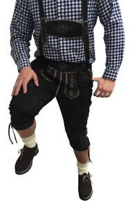 Trachten-lederhose Trachtenset Lederhose Herren Schuhe Hemd Socken Schwarz Leder