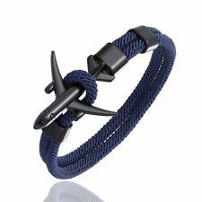 Airplane Anchor Rope Bracelet Men Women Traveler Jewelry Sport Charm Bracelets