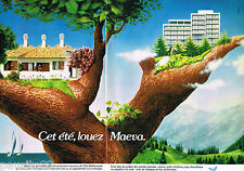 PUBLICITE ADVERTISING 065  1977  MAEVA   location vacances ( 2p)