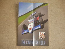 1987 Julian Bailey Cavendish Lola Brands Hatch FORMULA 3000 WINNER POSTER F3000