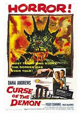 Night of the Demon - Dana Andrews - A4 Laminated Mini Movie Poster