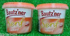 (1L=3,22€)  Bautzner Senf aus Bautzen (Sachsen)-2 Becher,  SCHARF