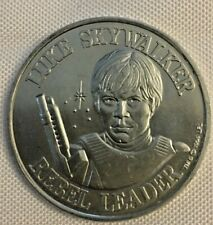 STAR WARS COIN(ALUMINUM) LUKE SKYWALKER 1984 KENNER MAIL AWAY