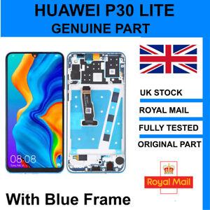 Genuine Huawei P30 Lite NOVA 4E LCD Screen with BLUE Frame Replacement MAR-LX1A