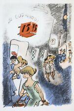 5 de Campagne GRANCHER Illustré JULHÈS 1/14 ex. DESSIN ORIGINAL & SUITE Envoi