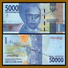 Indonesia 50000 Rupiah, 2016 P-New New Design Unc