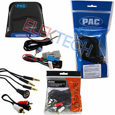 Car Audio Auxiliary Input Adapter Interface Unit & Aux/RCA Cable Extender for GM