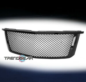 For 2015-2020 Chevrolet Suburban Tahoe Mesh Front Bumper Hood Upper Grille Black