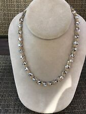 """16,5"""" Chain 14k Solid Yellow White Gold  Necklace 7mm Thick 17,2g Italy"""