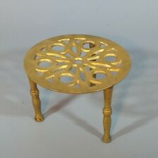 Small Vintage  Brass Trivet Stand