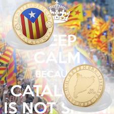 WR Moneda conmemorativa chapada en oro de 2014 Catalunya Independencia