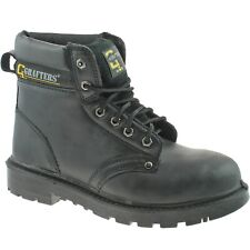 GRAFTERS STEEL TOE SAFETY WORK BOOTS SIZE UK 4 - 16 MENS BLACK BROWN M629 KD