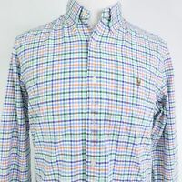 NEW! POLO RALPH LAUREN CLASSIC FIT L/S GINGHAM CHECK BUTTON UP SHIRT MENS SIZE L