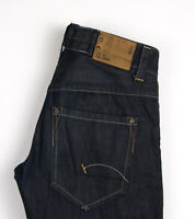 G-Star Brut Hommes 3301 Jeans Jambe Droite Taille W33 L32 AOZ460