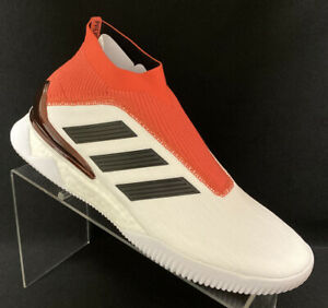 Men's adidas Predator Tango 18+ Trainer Shoes Size 7.5 White & Red Sneakers A1