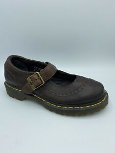 Dr Martens Alison Womens Brown Leather Shoes Size 6