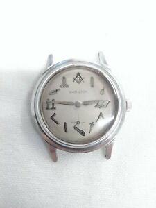 Vintage Hamilton Masonic Men's Watch Stainless